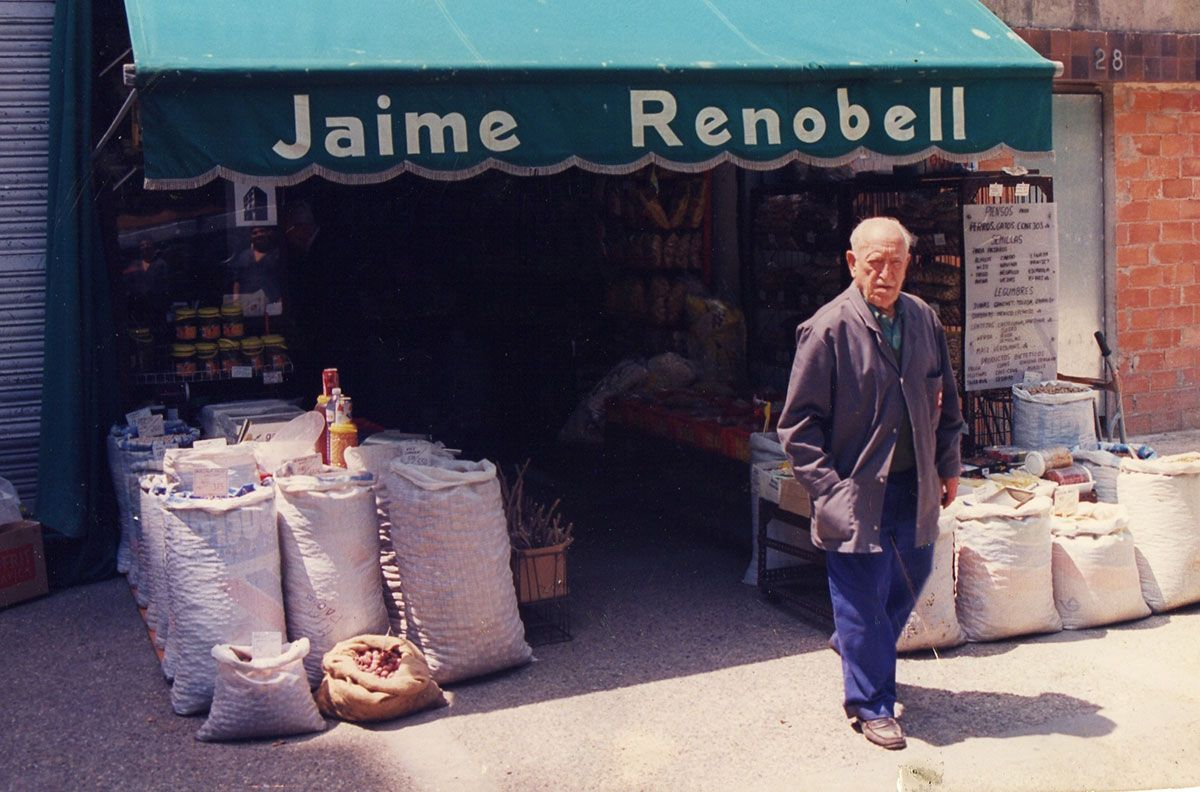 Jaume Renobell, en la tienda original