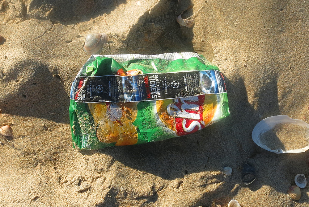 Las bolsas de patatas fritas no se reciclan